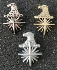 "Lot of 3 - CIA Eagle Head 3D Compass Star 1"" Tall Lapel pin / Tie Tack"