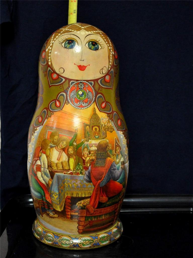 RUSSIAN  NESTING bambolaS 25PCS SET 14  Ttutti 1993 ST PETERSBURG  1-23-73  di moda