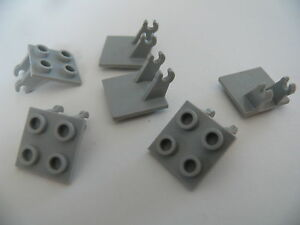 Lego-6-trains-d-atterissage-6345-1808-6444-1959-6-old-light-gray-wheels-holder