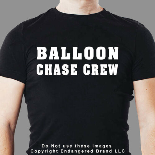 Hot Air Balloon Chase Crew Text Sticker Decal