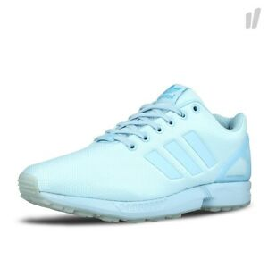 ADIDAS ZX FLUX LOW SNEAKERS RUNNING MEN SHOES AQ3100 LUSH BLUE SIZE 10.5 NEW