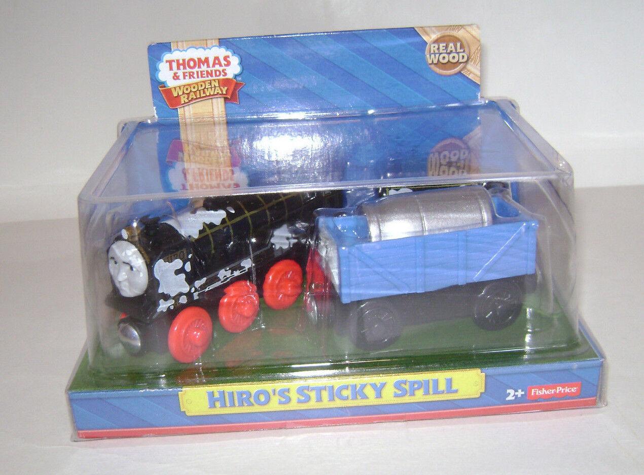Nuevo Fisher Price Thomas & Friends De Madera Railway Train HIRO's pegajoso derrame de madera