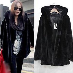 01075efe3 Details about Plus Size Women Faux Fur Parka Jackets Winter Warm Hooded  Hoodies Coat Outerwear