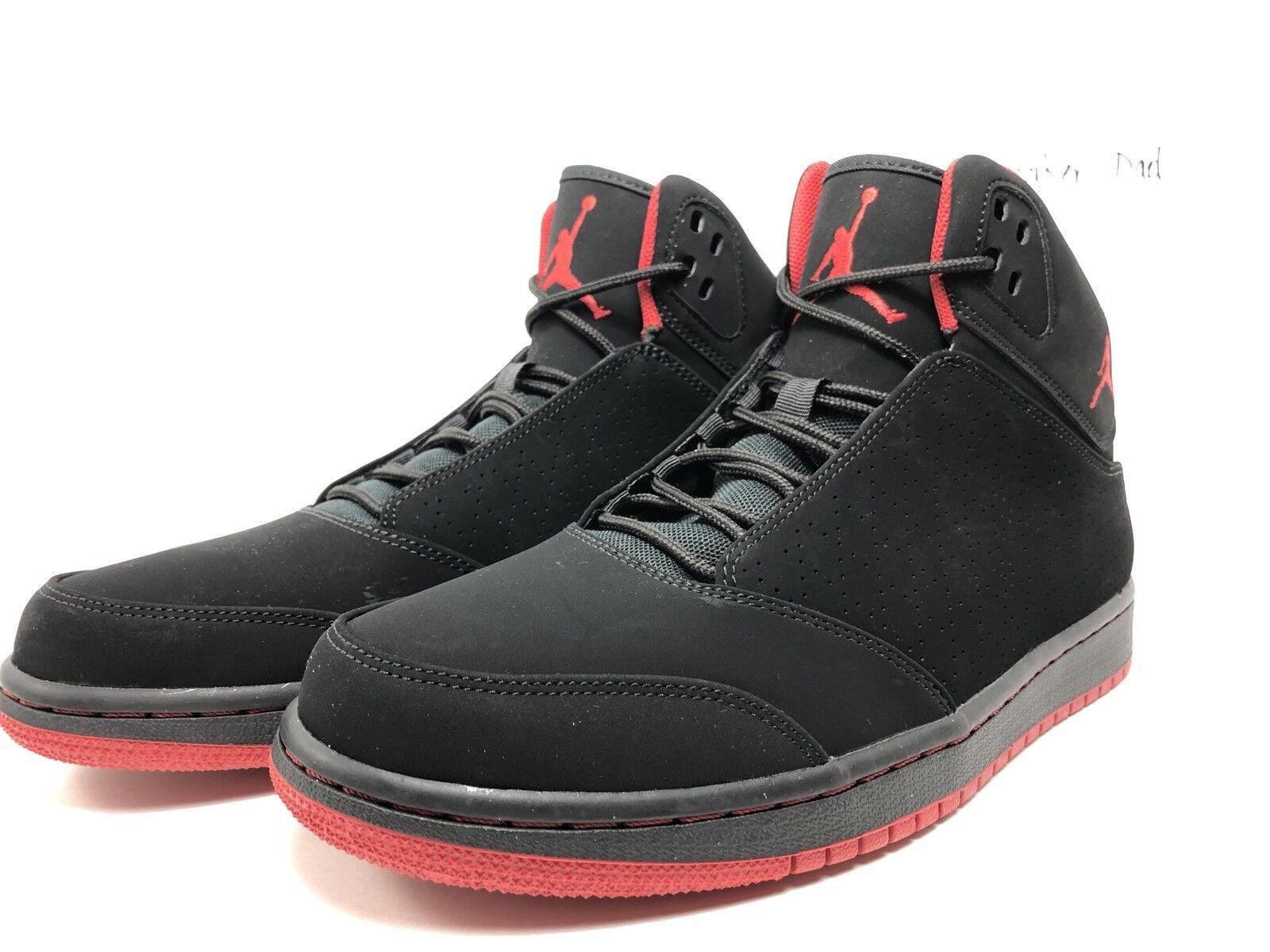 New Men's Shoes Nike Air Jordan 1 Flight 5 Black Gym Red 881433 002 Size 10