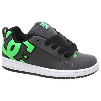 DC Court Graffik SE Kids Green/Grey/White Shoe. DC Childrens Shoes DC Trainers