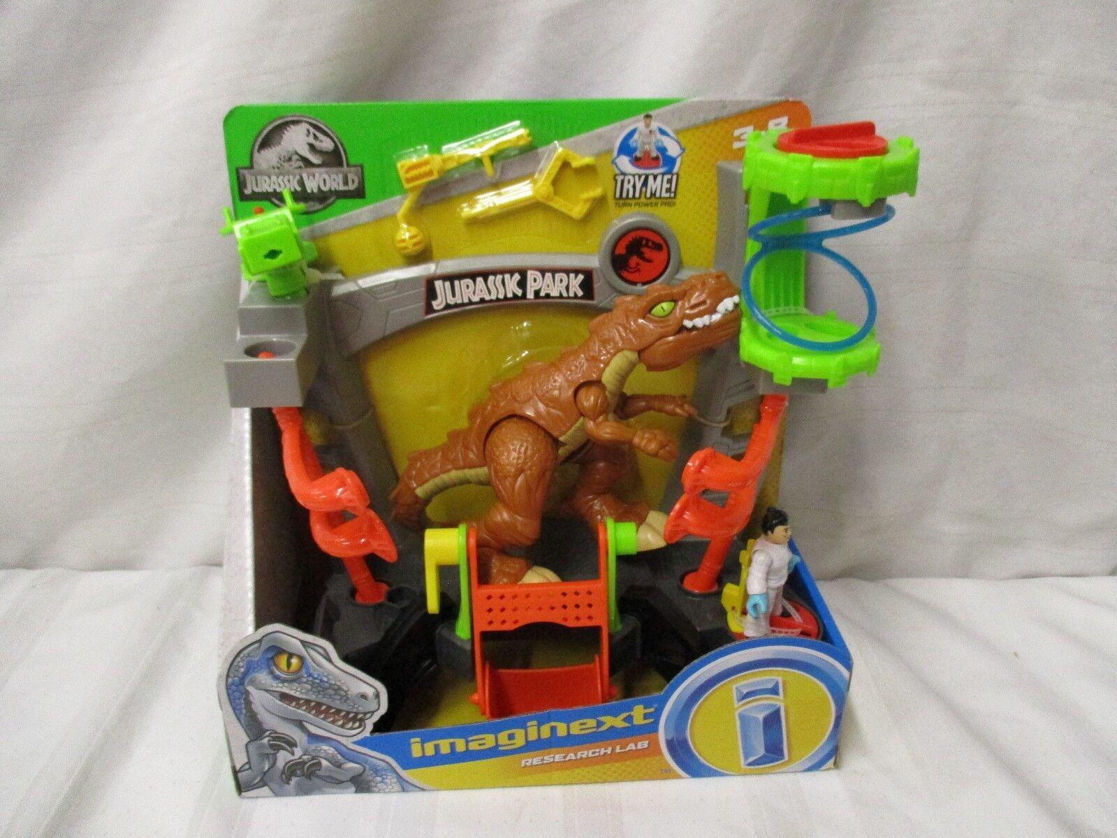 Fisher price Imaginext Jurassic World Dinosaur NEW Research lab park doctor trex