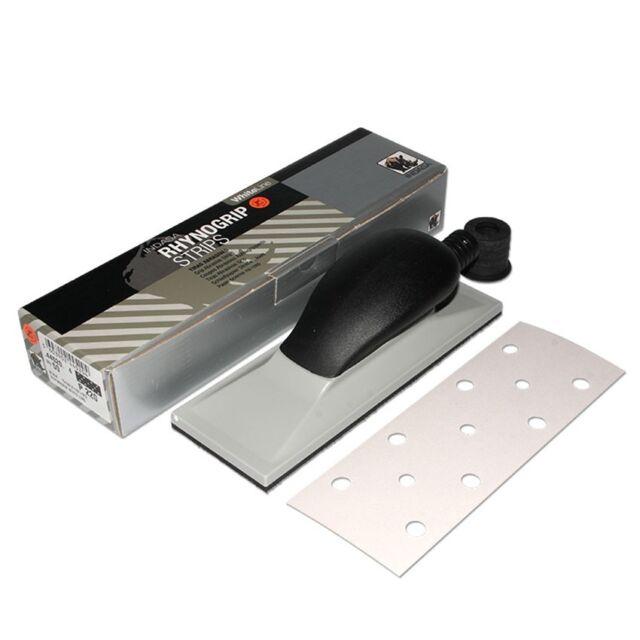 Schleifklotz 70x198mm Handschleifer mit Absaugung + 50 INDASA Schleifpapier P180