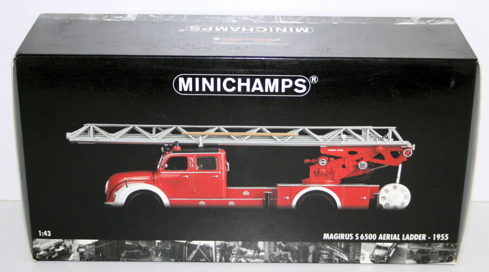 Minichamps 1 43 - 439 140071 Magirus S 6500 Aerial Ladder Red White 1955