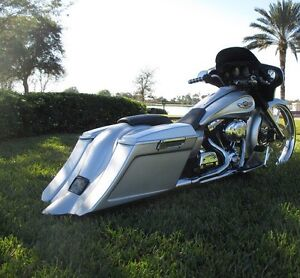 Image Is Loading Harley Bagger Stretched Bags And Fender Street Glide