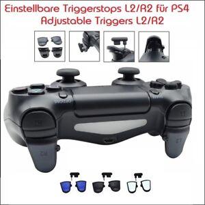 PS4-Controller-Triggerstops-einstellbar-mit-Grip-Verkuerzter-Druckweg-L2-amp-R2