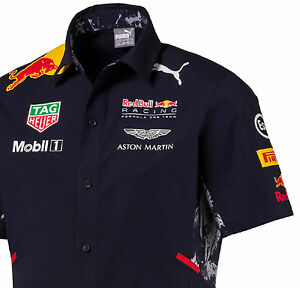9be83b28c62 AUTHENTIC PUMA RED BULL RACING 2017 COLLECTION MEN BUTTON TEAM SHIRT ...
