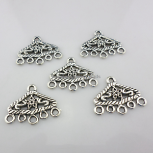 12pcs Tibetan Silver heart Key Charms Findings h0997