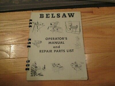 CDROM Belsaw Planer Models 910 912 Operators and Parts Manual PDF