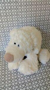 Peluche doudou ours polaire blanc écru museau beige 40 cm Egmont Toys