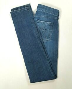 HABITUAL-Womens-Mid-Rise-Skinny-Jeans-DARK-MESMERIZE-Wash-Size-25-LONG