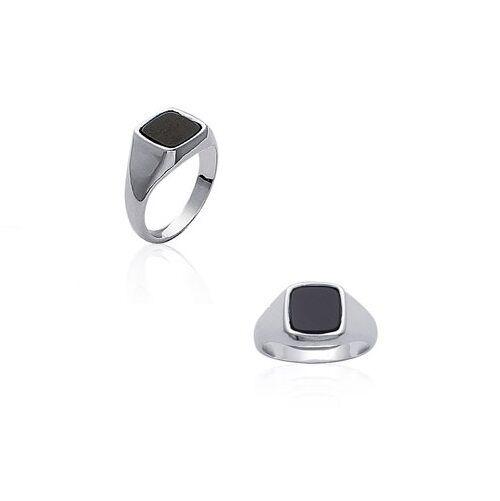 New Knight Ring Man Silver & Onyx New T 62