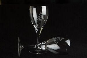 Large-Red-Wine-glasses-11oz-Celtic-Trinity-Design-set-of-2-Gift-Boxed