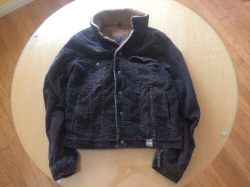 Abercrombie and Fitch Men's Corduroy Sherpa Jacket
