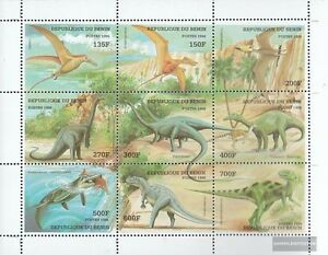 Stamps Benin 1040-1048 Sheetlet Mint Never Hinged Mnh 1998 Prehistoric Animals Topical Stamps