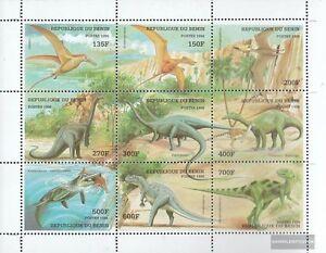 Africa Benin 1040-1048 Sheetlet Mint Never Hinged Mnh 1998 Prehistoric Animals