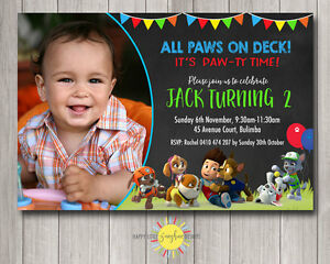 photo about Printable Paw Patrol Invitations identify Information around Printable Boys Birthday Image Invitation Paw Patrol Any Age 1st Vibrant