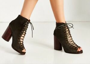 f540cca7654 Jeffrey Campbell Cors Lace Up Shoes Black Suede New With Box ...