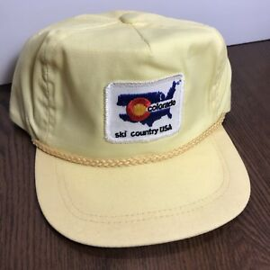 3d61be074b5 Image is loading Vintage-Colorado-Ski-Country-Hat-Cap-Rare-Imperial-