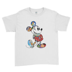 597e66be Colourful Mickey Mouse Art Funny Face Characters Kids T Shirt Unisex ...