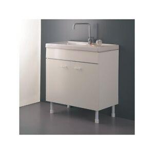 Mobile Sottolavello cucina 100x45 Bianco per lavello in ceramica ...