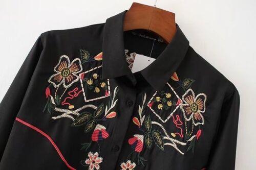 Elegante Camicia Camicetta Donna 4503 Maniche Lunghe Nero Maglia Disegni pdqAZwqF4