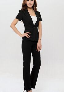 11871106212ef Caricamento dell immagine in corso Elegante-Tailleur-completo-donna -nero-giacca-a-manica-