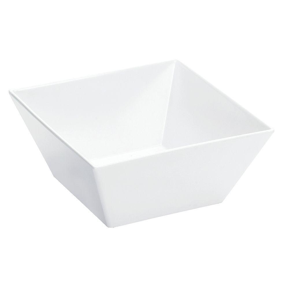Cal-Mil Designer Edge Serving Bowl White Melamine - 10 L x 10 W x 5 H, SR262