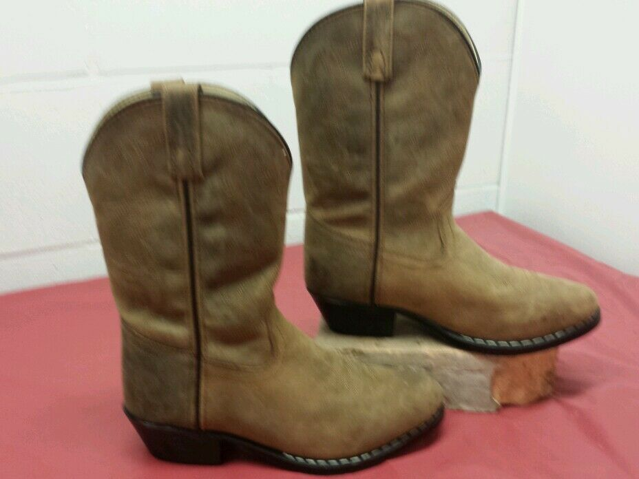 Smoky Mountain  Leather Western Boot - Distress Brown - Size 3 Youth