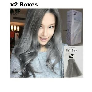 Image Is Loading 2 BOXES BERINA A21 LIGHT GRAY SILVER PERMANENT