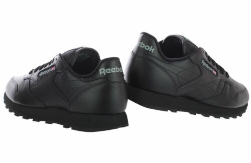 Reebok Classic Leather Black Men/'s Running//Casual Shoes 116 Fast shipping SaK