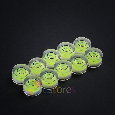 10 x 12*7mm Disc Bubble Spirit Level Round Circle Circular Jewellers Tool Tripod