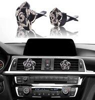 Bling Bling Car Accessories Interior Decoration For Girls Women - Black Flowers