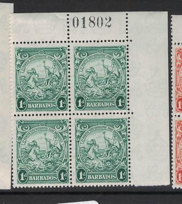 Punctual Barbados Sg 249b Block Of Four Sheet Number 7dsa Stamps Mnh