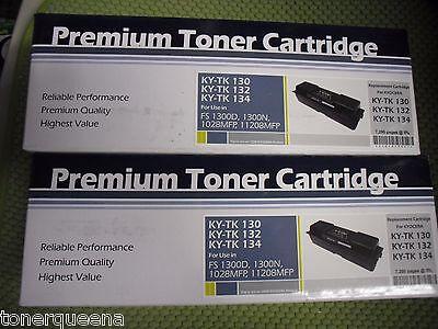 2 Compatible Toner Cartridge for Kyocera TK-132 TK130 TK134 FS-1300D FS-1350DN