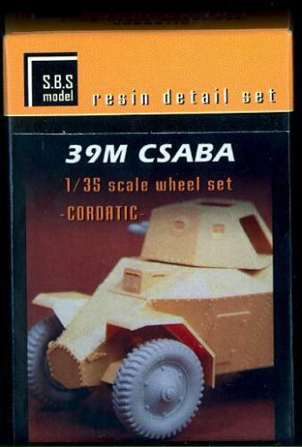 SBS Models 1//35 39M CSABA ARMORED CAR CORDATIC TIRE SET Resin Update Set