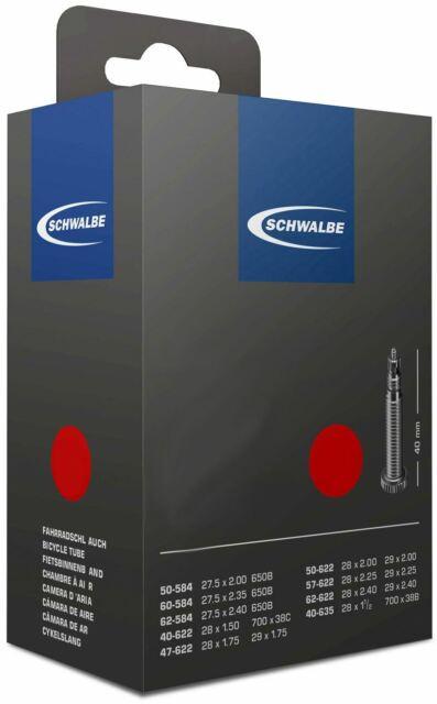 Schwalbe Sv7 20 Presta Valve 40mm Silver Inner Tube 2016 for sale online