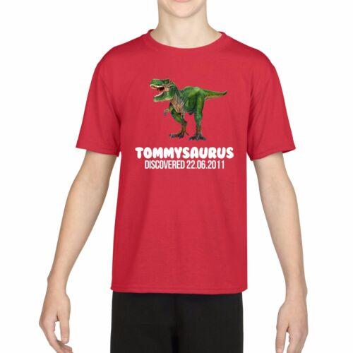 Personalizzata DINOSAURO T SHIRT-Per Bambini Compleanno Regalo T-shirt Jurassic 736