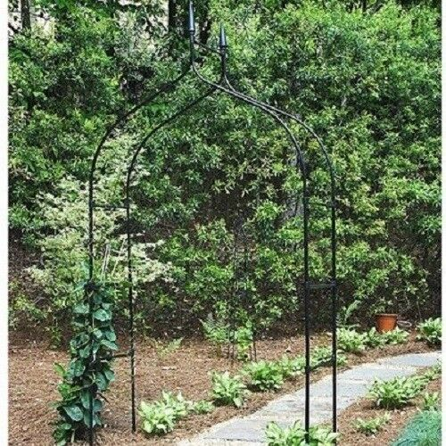 Garden Arch Gate Lawn Wedding Arbor Trellis 7ft Patio Archway Yard Decor |  EBay