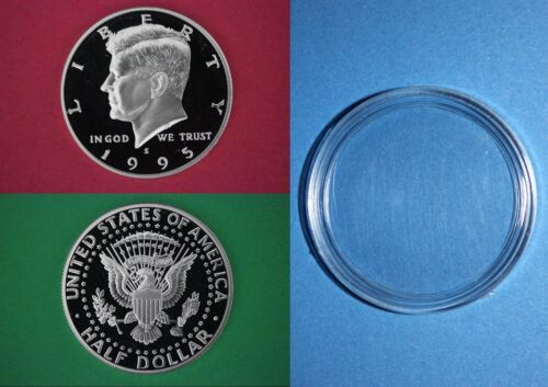 SILVER 1995 S Proof John Kennedy Half Dollar With Capsule Combined Shipping