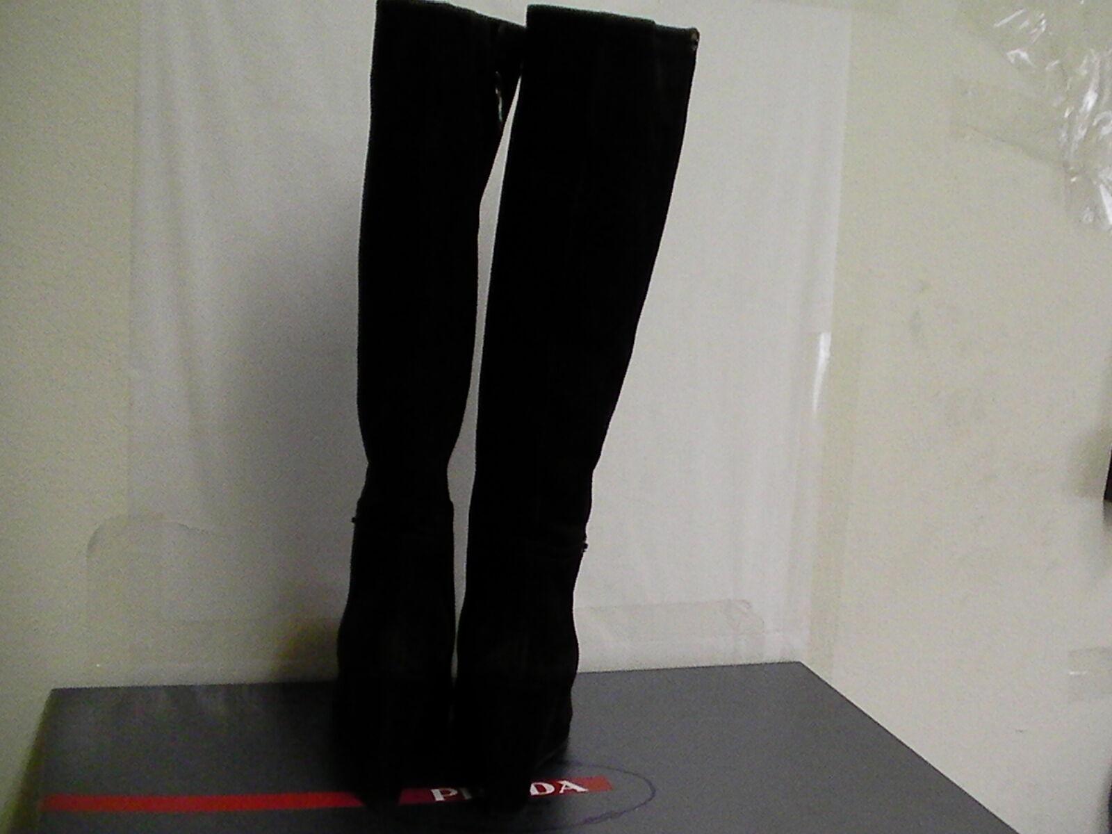 Femme Prada Milano Haut Bottes Daim Calzature femmes Neuve avec avec avec Taille de Boîte 31756d