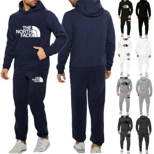 Mens Tracksuit Set Hoodie Bottoms Sweat Pants Jogging Sports Trousers Track Suit
