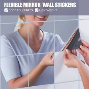 16Pcs-Mirror-Wall-Stickers-Bedroom-Bathroom-Home-Decor-DIY-Self-adhesive-15CM