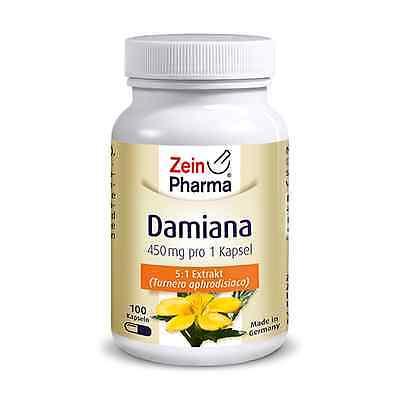 Damiana 100 Kapseln von ZeinPharma® - vegetarisch