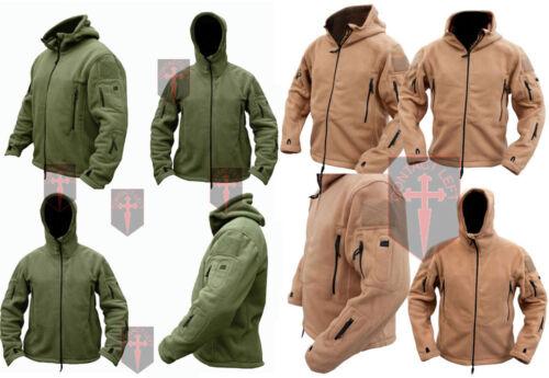 Green Fleece Recon Hoodie Coyote Tan All Sizes unisex military design Warm