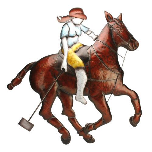 Jugador de polo de Deportes Jinete a caballo ~ gran declaración Hogar Arte Para Pared De Metal MWA541